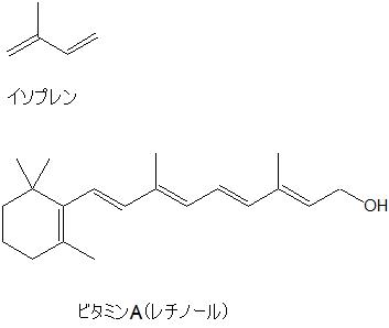 イソプレンとビタミンA
